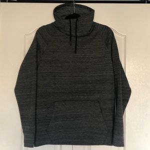 H&M Black-Grey Chimney Collar Sweatshirt